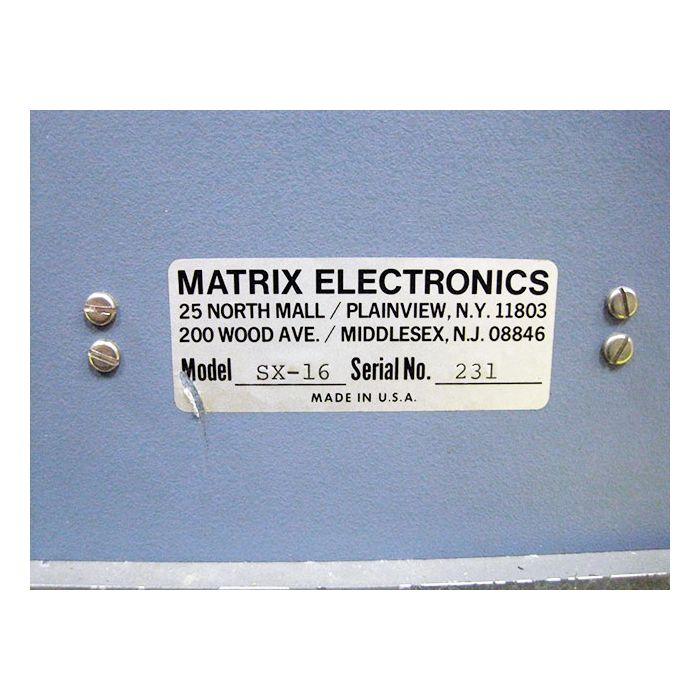 MATRIX TEST EQUIPMENT SX-16 CATV CARRIER SIGNAL GENERATOR 56 CHANNEL