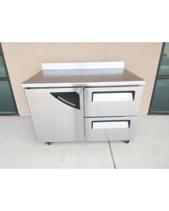 TURBO-AIR TWR-48SD-D2 SUPER DELUXE WORKTOP REFRIGERATOR 12 CU. FT. STAINLESS