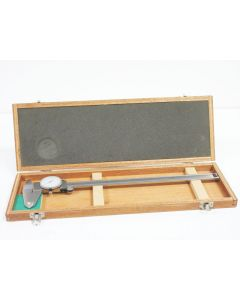 """MITUTOYO 12"""" 300MM DIAL CALIPER 505-628-50 .001"""" WITH CASE"""