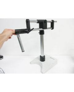 WILD MICROSCOPE STAND 439034 ROD W/ 439095 BASE AND 439097 SHOULDER MOUNT