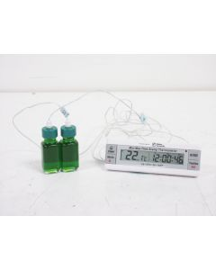 FISHER SCIENTIFIC S98182 DUAL THERMOMETER WITH MIN/MAX & TIME/DATE