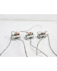3X SMC RSDQB12-10DK-F9NWVL STOPPER CYLINDER BORE 12 MM  STROKE 10 MM