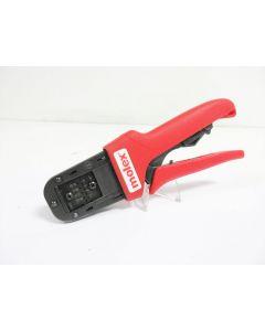 MOLEX 638190400 A HAND CRIMP TOOL 26-32 AWG WITH 638190475 LOCATOR ~ 63819-0400