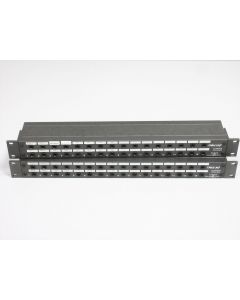 """PAIR OF CABLEUP CU/PB032B PATCH BAY PANELS ~ CABLE UP CU 1/4"""" TRS 16-CHANNEL"""