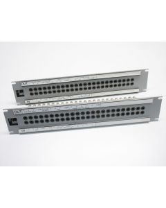 """PAIR OF ADC PPI 2224RS-75N PATCH PANEL 48 POINT VIDEO PATCH BAY BNC JACK 19"""""""