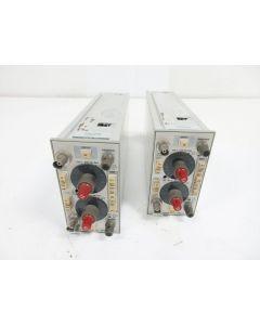 LOT OF 2 TEKTRONIX 5A18N DUAL TRACE AMPL - PARTS