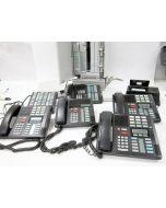 NORTEL NORSTAR PHONE SYSTEM MICS ICS WITH FIVE PHONES M7208 M7324 HOLD ATA2